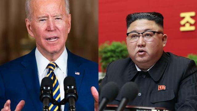 Joe Biden y Kim Jong-un