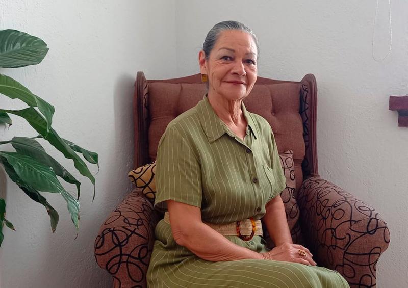 Evelia Basáñez, mujer altruista y preocupada por su comunidad