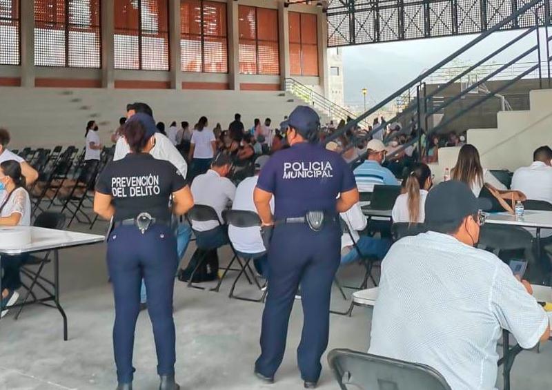 Policía Municipal apoya la jornada de vacunación