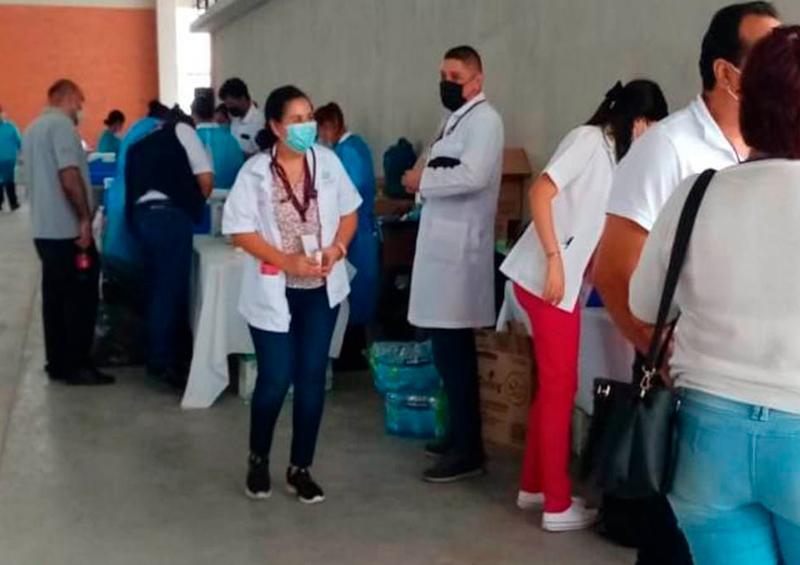 Policía Municipal apoya en jornada de vacunación