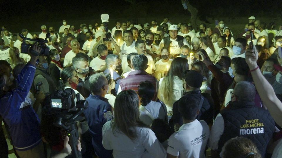 michel inicia campaña en la 12 de octubre