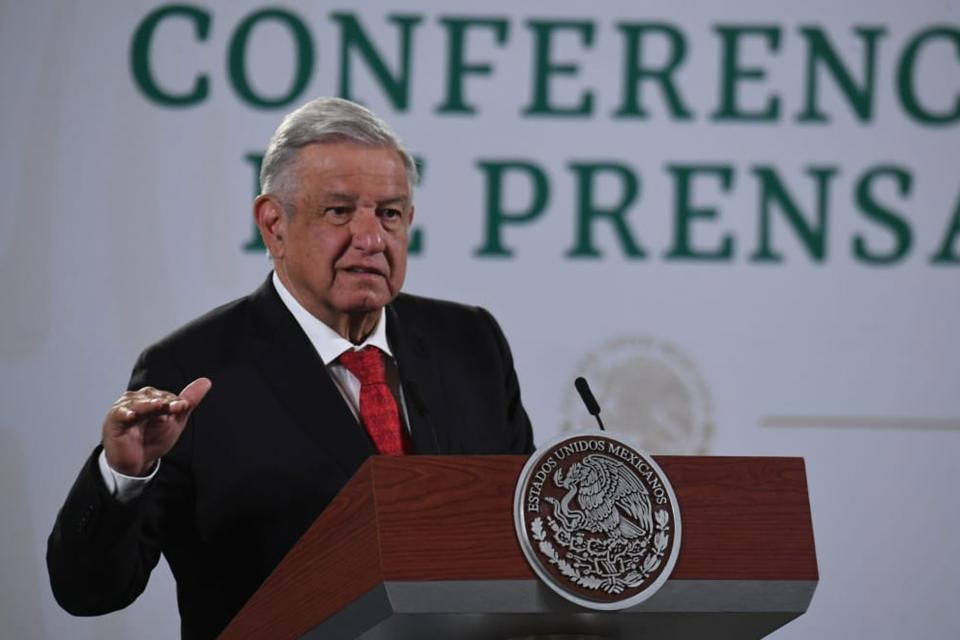 En conferencia de prensa desde el Palacio Nacional