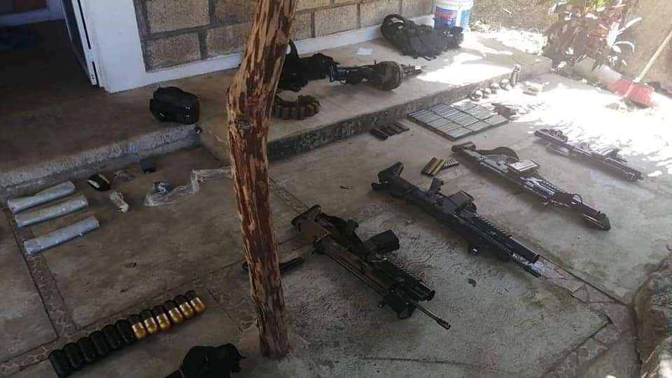 Armas decomisadas en Guayabitos