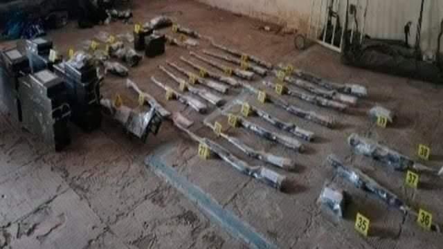 Armamento decomisado en Guayabitos