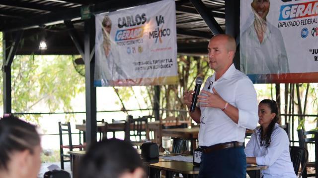 CARLOS GERARD EN CAMPAÑA VA POR MEXICO