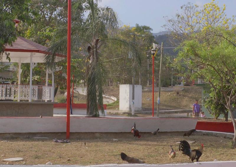 En pleno deterioro, plaza principal de la Colonia La Moderna