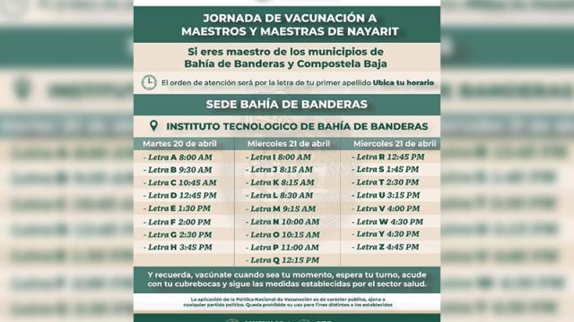 Jornada de vacunación a docentes