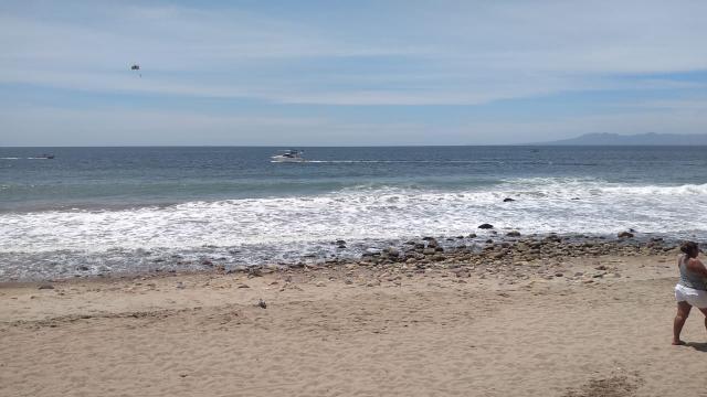 Alto oleaje en playas Puerto Vallarta