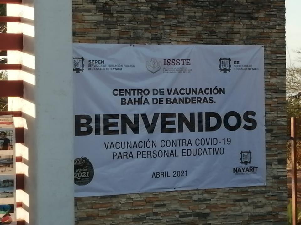 Módulo de vacunación para personal educativo