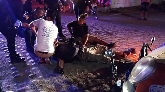Accidente de motocicleta en El Pitillal