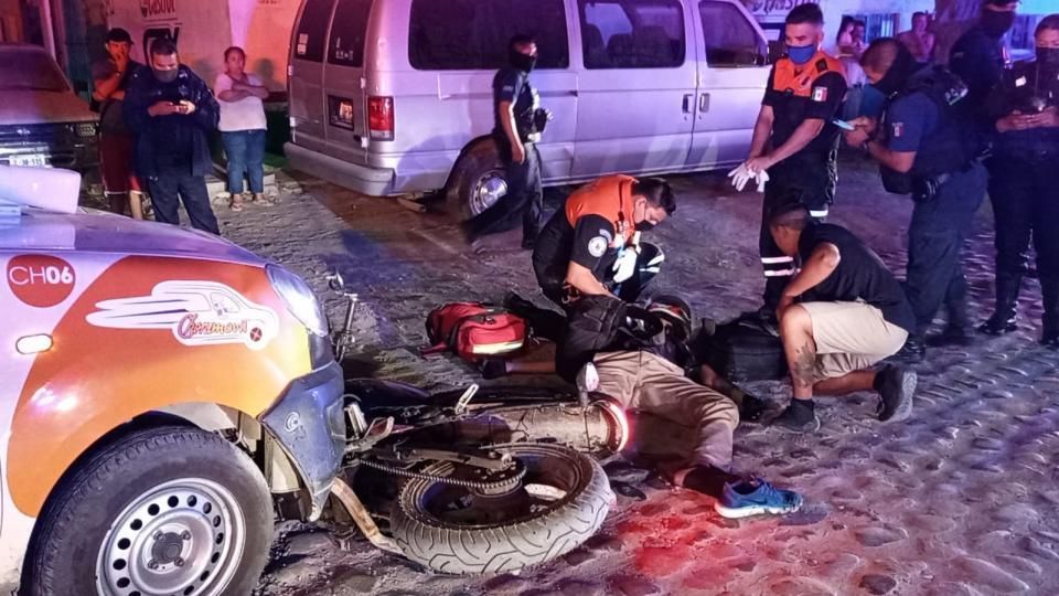 Motociclista atropellado en El Pitillal
