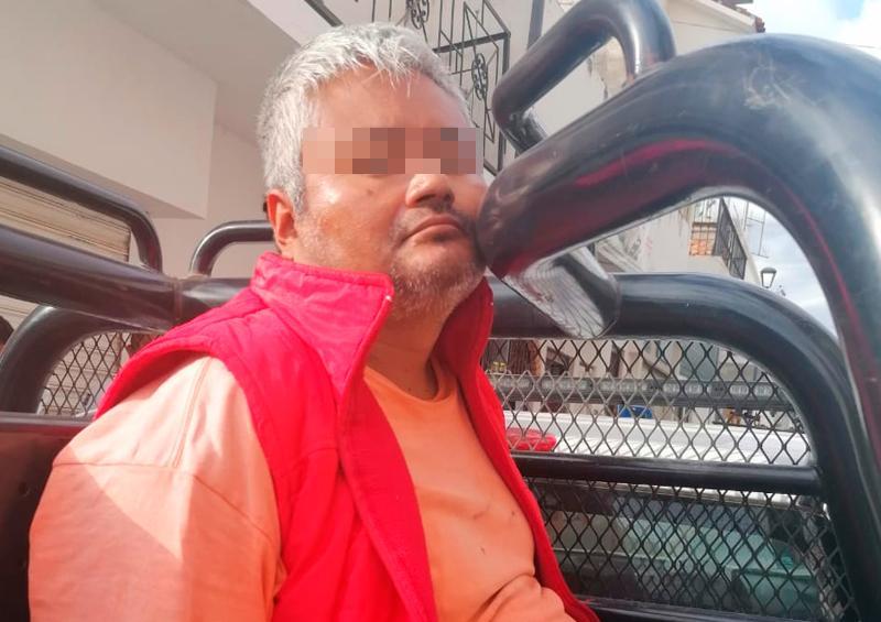 Detienen a loco sujeto que causó daños en la iglesia de Guadalupe