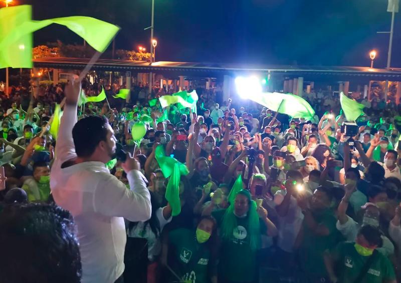 Reinicia el Verde campaña con marcha de la UMA a Mojoneras