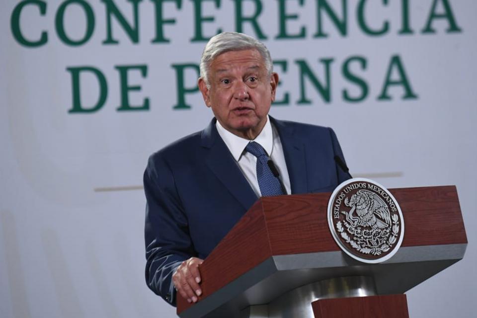 En conferencia de prensa en el Palacio Nacional