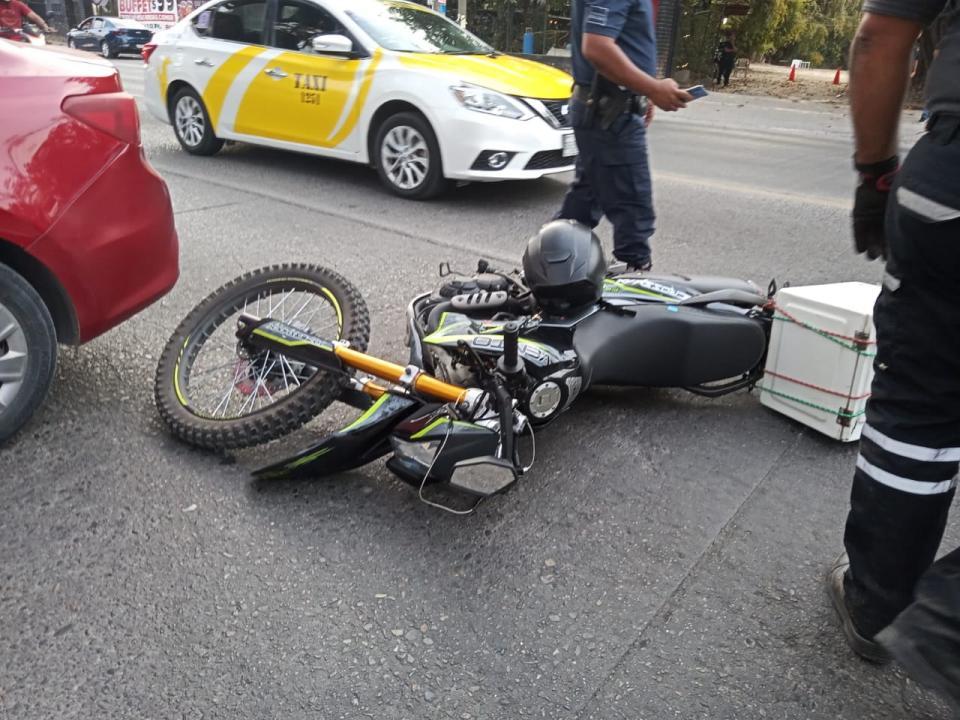Motociclista herido en Francisco Villa