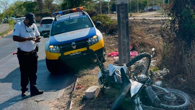 Motociclista se accidentó y está grave