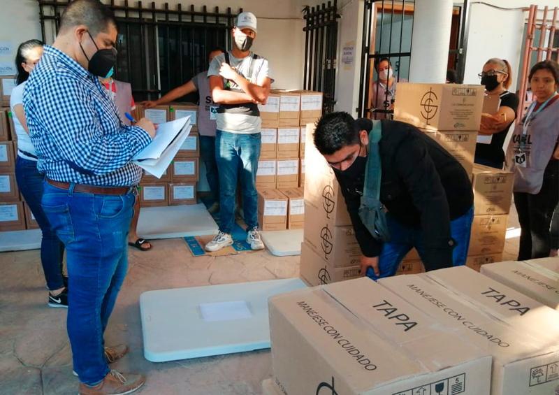 Llega material electoral a Bahía de Banderas Nayarit