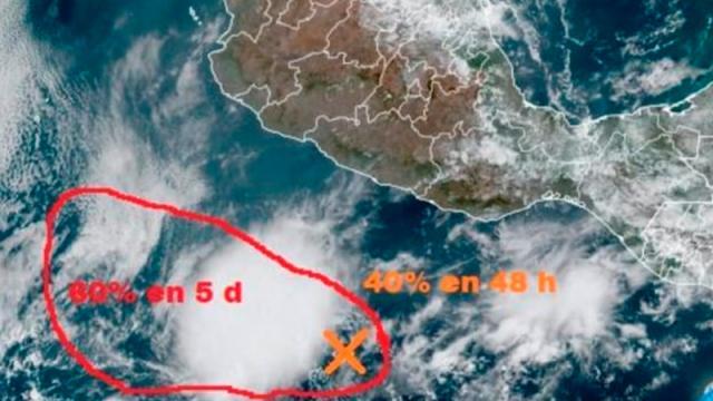 Posible desarrollo ciclónico en próximas 48 horas