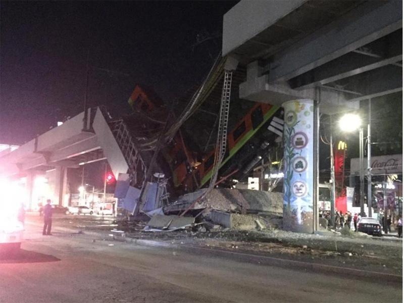 Se derrumba línea del metro que hizo Marcelo; ¿negligencia?