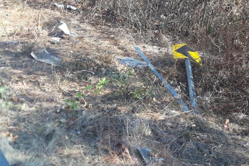 Accidente en en la carretera estatal 544