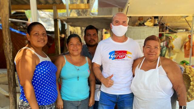 Apoyaré comerciantes y emprendedores: Carlos Gerard
