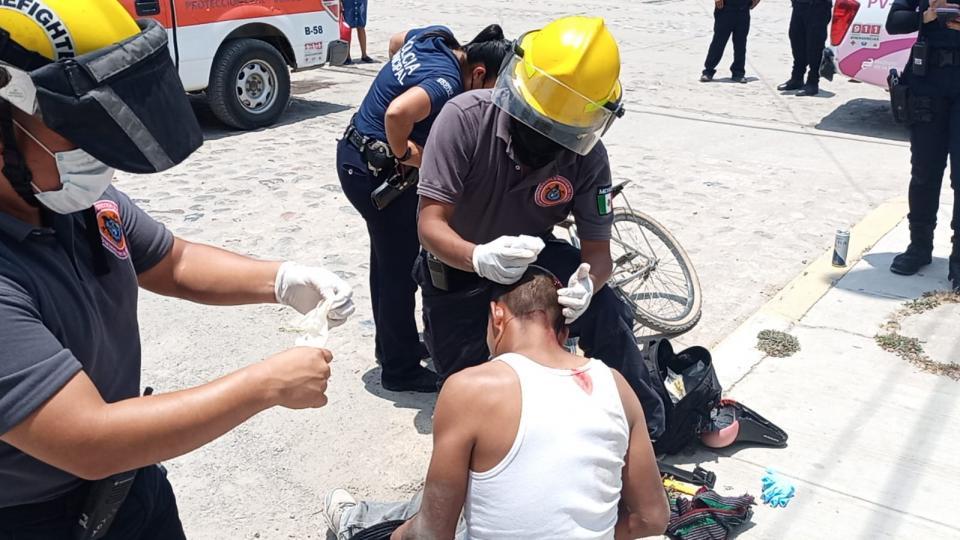 Ciclista herido al caerse en la colonia Floresta