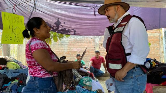Comerciantes de Mojoneras respalda a Bruno Blancas