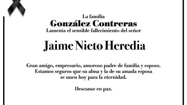 Esquela Jaime Nieto