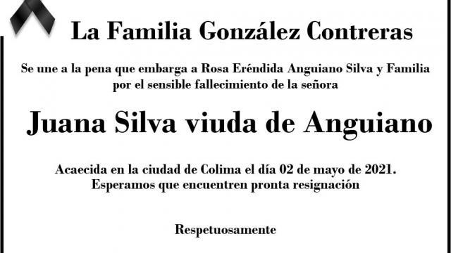 Esquela Juana Silva