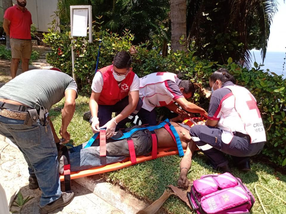 Hombre cae de una palmera en hotel de zona sur