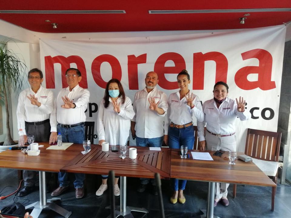 Se muestra unido Morena a mitad de la campaña