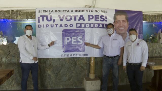 Aún sin aparecer en boleta Roberto González sigue su campaña