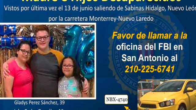 FBI se suma a búsqueda de familia texana desaparecida en Monterrey