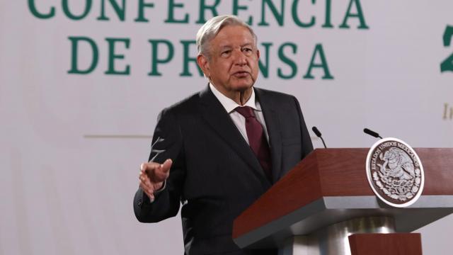 En conferencia matutina desde el Palacio Nacional