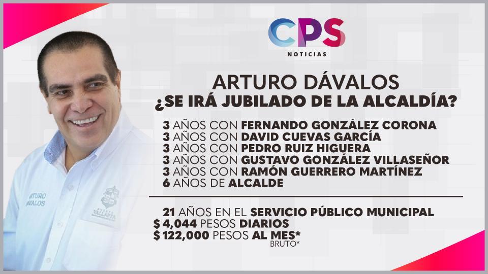 Arturo Dávalos jubilacion en proceso