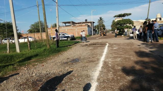 Obra de pavimentación en San José del Valle