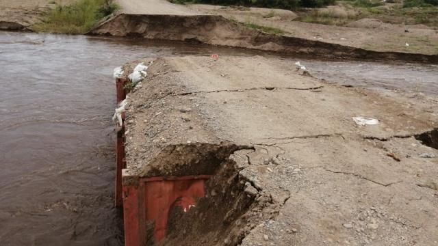 Río Ameca destruye el paso de San José del Valle, Nayarit