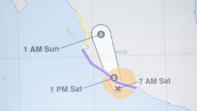 Trayectoria Tormenta Tropical Dolores