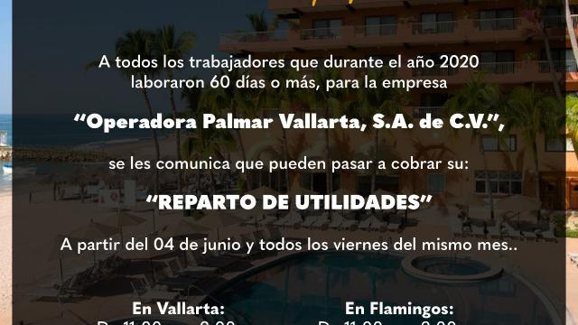 Villa de Palmar reparto de utilidades
