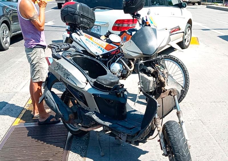 Otro motocilista herido en la Avenida Medina Ascencio