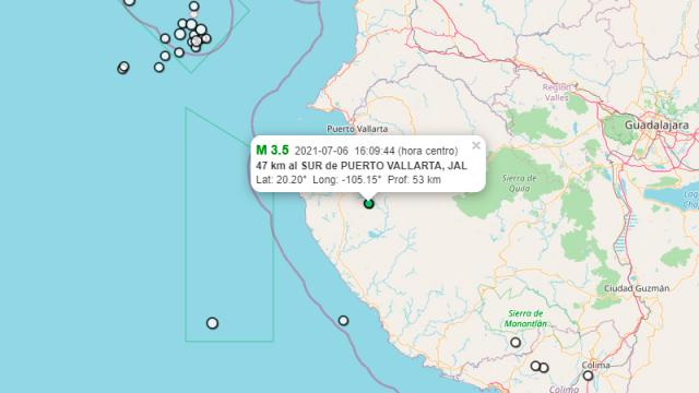Se registra sismo de 3.5 grados de intensidad
