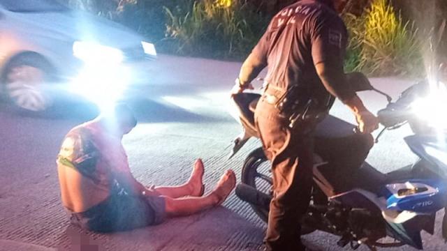 Derrapa motociclista en la Palmareal