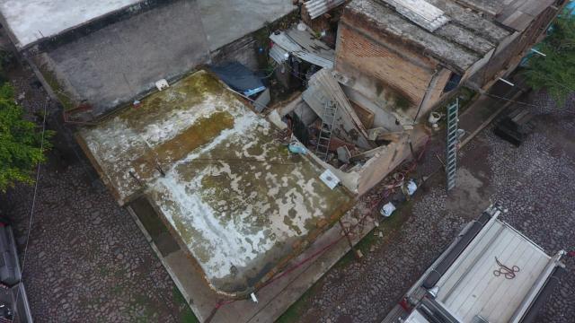 Auxilia SSPC lesionado por colapso de construcción en Tepic