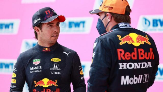 Checo Pérez en la carrera del Gran Premio de Austria