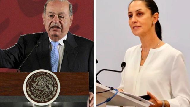 Claudia Sheinbaum dijo que Carlos Slim aceptó hacerse cargo del costo de la rehabilitación