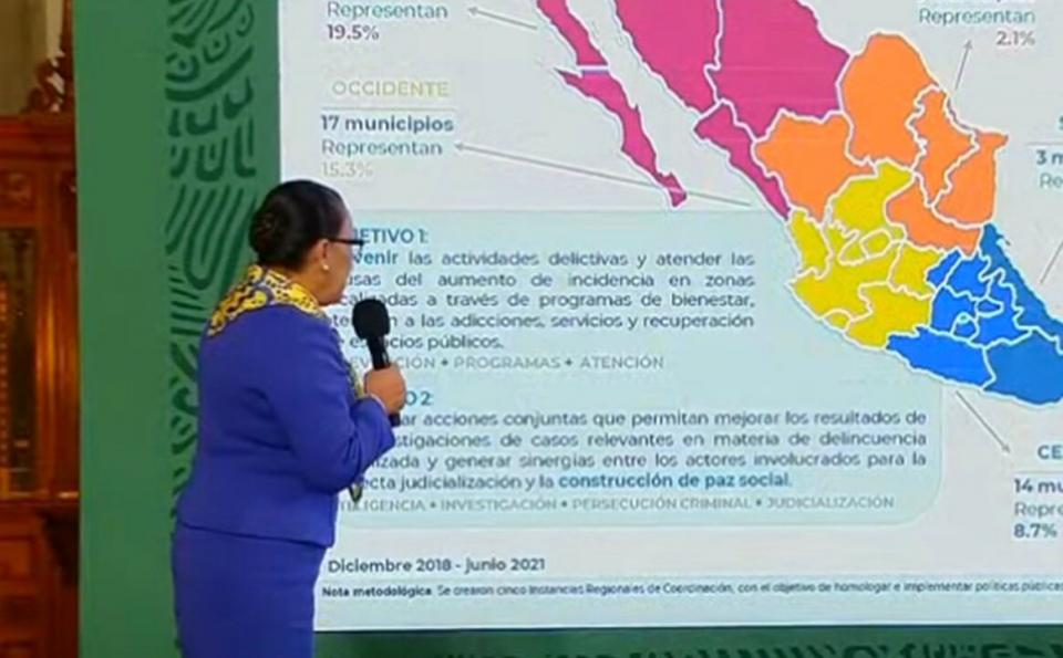 Dividen al país en 5 regiones para atender zonas violentas