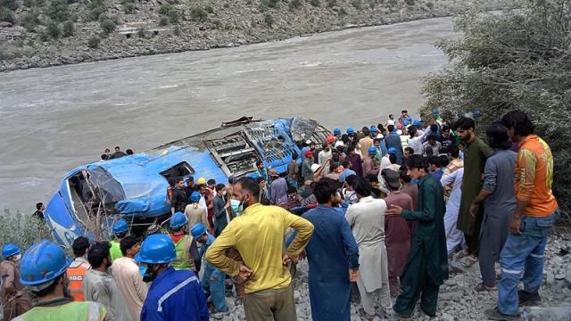 Explosión de autobús en Pakistán