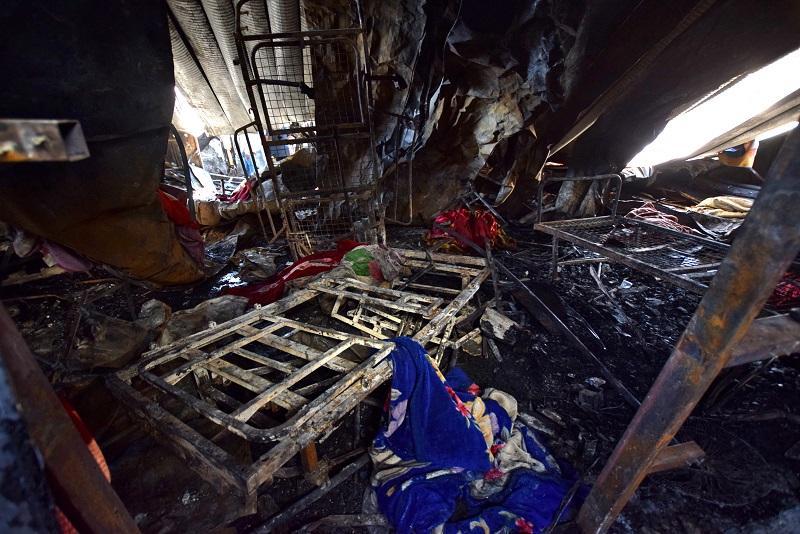 Incendio en hospital covid en Irak
