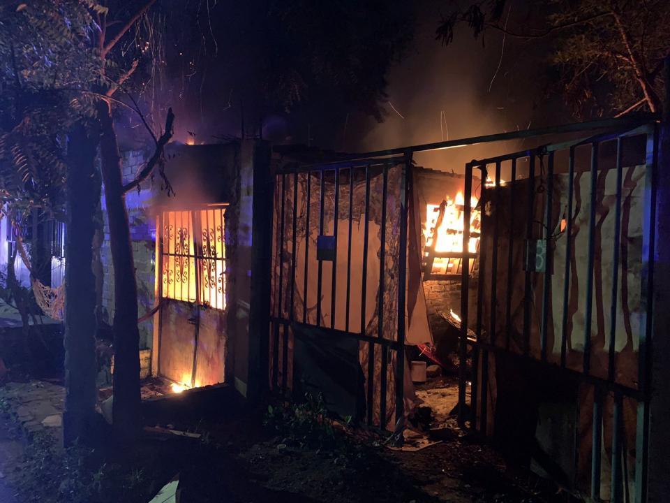 Incendio en domicilio ubicado en Las Juntas