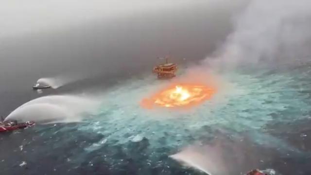 """""""Fue un accidente"""": AMLO sobre incendio en el Golfo"""
